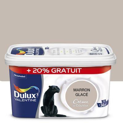 Peinture Murs Et Boiseries Dulux Valentine Crème Du Couleur Marron Glacé  Satin 2,5L + 20% Gratuit   Castorama.