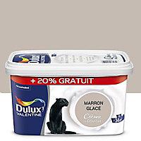 Peinture murs et boiseries Dulux Valentine Crème du couleur marron glacé satin 2,5L + 20% gratuit