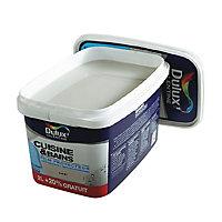Peinture Dulux Valentine Cuisine/SDB murs et boiseries blanc satin 2L + 20%