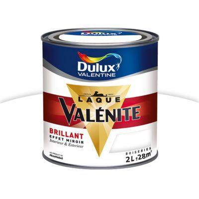 Peinture Glycro Boiseries Dulux Valentine Blanc De Blanc Brillant