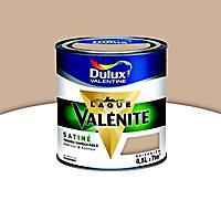 Peinture murs et boiseries Dulux Valentine Crème de couleur moka latte satin 0,5L