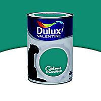 Peinture murs et boiseries Dulux Valentine Crème de couleur eucalyptus satin 1,25L