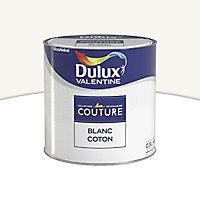 Peinture murs et boiseries Dulux Valentine Couture blanc coton satiné 0,5L