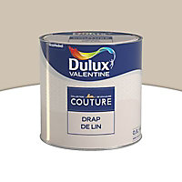 Peinture murs et boiseries Dulux Valentine Couture drap de lin satiné 0,5L