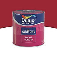 Peinture murs et boiseries Dulux Valentine Couture rouge boléro satiné 0,5L