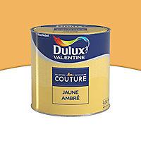 Peinture murs et boiseries Dulux Valentine Couture jaune ambrée satiné 0,5L