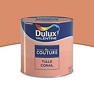 Peinture murs et boiseries Dulux Valentine Couture tulle corail satiné 0,5L