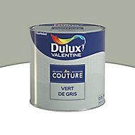 Peinture murs et boiseries Dulux Valentine Couture verte de gris satiné 0,5L