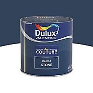 Peinture murs et boiseries Dulux Valentine Couture bleue stone satiné 0,5L