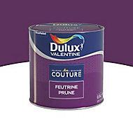 Peinture murs et boiseries Dulux Valentine Couture feutrine prune satiné 0,5L