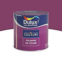 Peinture murs et boiseries Dulux Valentine Couture pourpre de venise satiné 0,5L