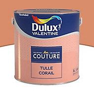 Peinture murs et boiseries Dulux Valentine Couture tulle corail satiné 2L