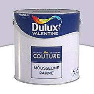 Peinture murs et boiseries Dulux Valentine Couture mousseline parme satiné 2L
