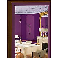 Peinture murs et boiseries Dulux Valentine Couture feutrine prune satiné 2L