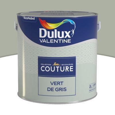 Peinture murs et boiseries DULUX VALENTINE Couture vert de gris ...
