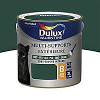 Peinture multi-supports extérieur Dulux Valentine vert basque satin 2L