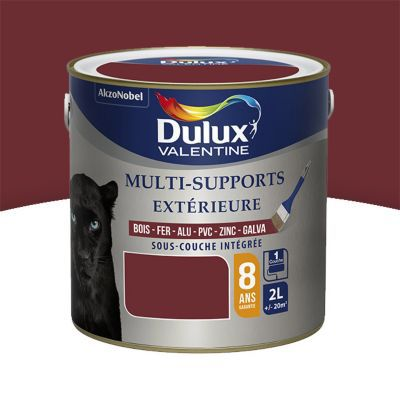 peinture multi supports ext rieur dulux valentine rouge basque satin 2l castorama. Black Bedroom Furniture Sets. Home Design Ideas