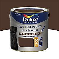 Peinture multi-supports extérieur Dulux Valentine brun Normandie satin 2L