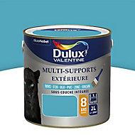 Peinture multi-supports extérieur Dulux Valentine bleu turquoise satin 2L