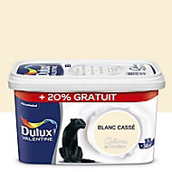 Peinture murs et boiseries Dulux Valentine Crème du couleur blanc cassé satin 2,5L + 20% gratuit