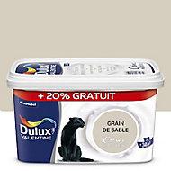 Peinture murs et boiseries Dulux Valentine Crème de couleur grain de sable satin 2,5L + 20% gratuit