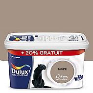 Peinture murs et boiseries Dulux Valentine Crème de couleur taupe satin 2,5L + 20% gratuit
