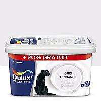 Peinture murs et boiseries Dulux Valentine Crème de couleur gris tendance satin 2,5L + 20% gratuit