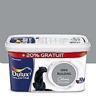 Peinture murs et boiseries Dulux Valentine Crème de couleur gris building satin 2,5L + 20% gratuit