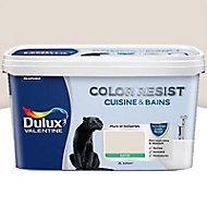 Peinture cuisine et salle de bain Dulux Valentine Color resist lin clair satin 2L