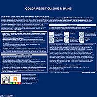 Peinture cuisine et salle de bain Dulux Valentine Color resist blanc satin 2L
