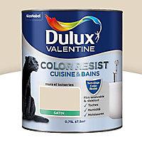 Peinture cuisine et salle de bain Dulux Valentine Color resist cocon satin 0,75L