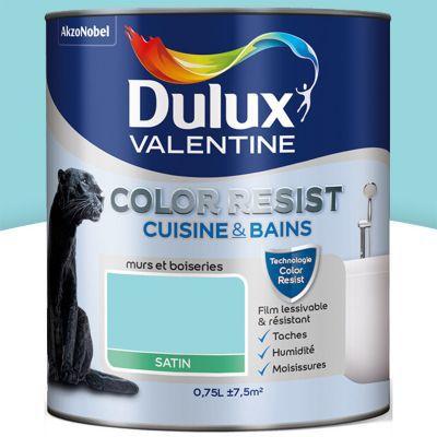 Peinture Cuisine Et Salle De Bain Dulux Valentine Color Resist Bleu