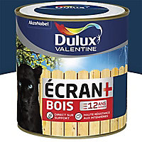 Peinture bois extérieur Dulux Valentine Ecran+ marine satin 0,5L