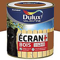 Peinture bois extérieur Dulux Valentine Ecran+ teck satin 0,5L