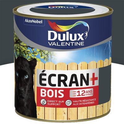 Peinture Bois Extérieur Dulux Valentine Ecran Anthracite Satin 0 5l Castorama