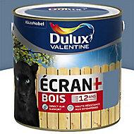 Peinture bois extérieur DULUX VALENTINE Ecran+ bleu orage satin 2L
