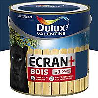Peinture bois extérieur Dulux Valentine Ecran+ bleu marine satin 2L