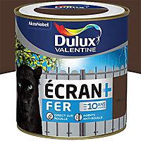 Peinture fer antirouille Dulux Valentine Ecran+ brun normandie brillant 0,5L