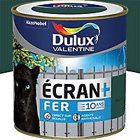 Peinture fer antirouille Dulux Valentine Ecran+ vert patrick brillant 0,5L
