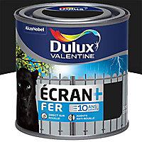 Peinture fer antirouille Dulux Valentine Ecran+ noir brillant 0,25L