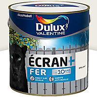 Peinture fer antirouille Dulux Valentine Ecran+ blanc pur brillant 2L