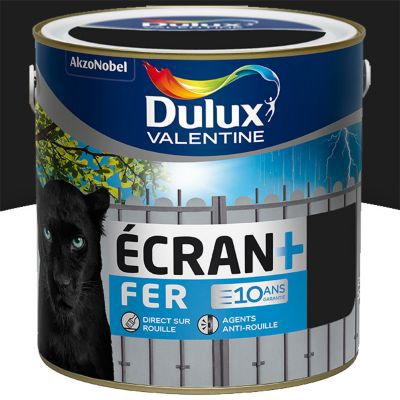 peinture fer antirouille dulux valentine ecran noir mat 2l castorama. Black Bedroom Furniture Sets. Home Design Ideas