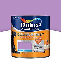 Peinture murs et boiseries Dulux Valentine Color resist violet persistant mat 1L
