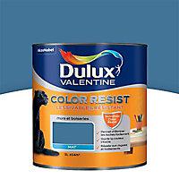 Peinture murs et boiseries Dulux Valentine Color resist zinc bleu mat 1L