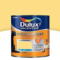 Peinture murs et boiseries Dulux Valentine Color resist jaune chrome mat 1L