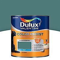 Peinture murs et boiseries Dulux Valentine Color resist vert profond mat 1L