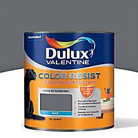 Peinture murs et boiseries Dulux Valentine Color resist charbon mat 1L