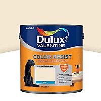 Peinture murs et boiseries Dulux Valentine Color resist blanc platine mat 2,5L