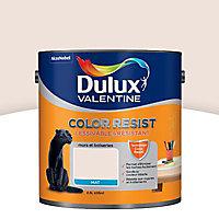 Peinture murs et boiseries Dulux Valentine Color resist plâtre rose mat 2,5L