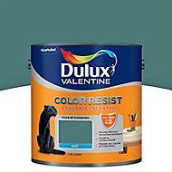 Peinture murs et boiseries Dulux Valentine Color resist vert profond mat 2,5L